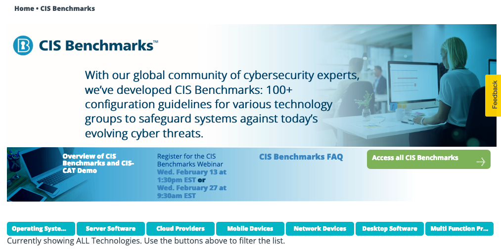 Use Center for Internet Security - CIS Benchmarks to Secure