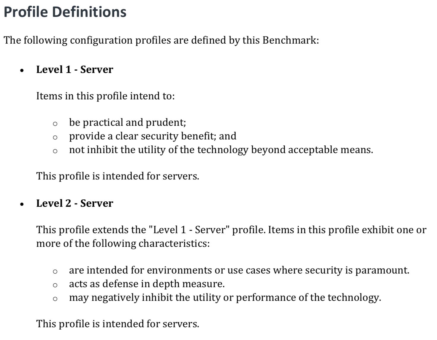 CIS_Benchmarks_Server_Levels