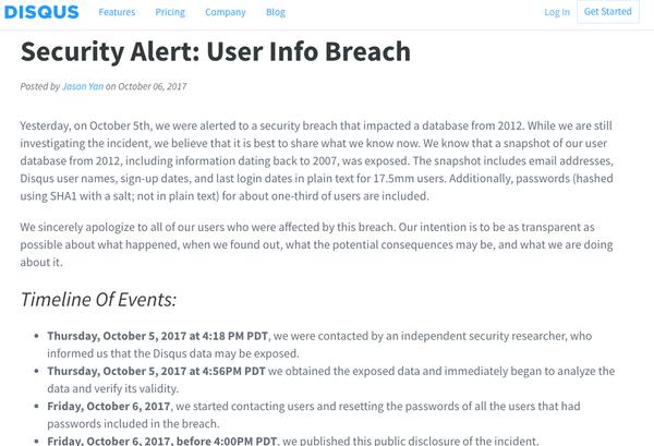 Disqus Comment Broker Suffers Data Breach
