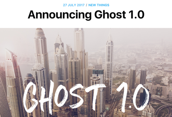 Ghost 1.0 Released