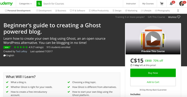 Beginner's Guide To Creating A Ghost Powered Blog